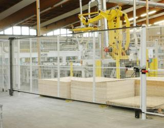 Machines safety panel -