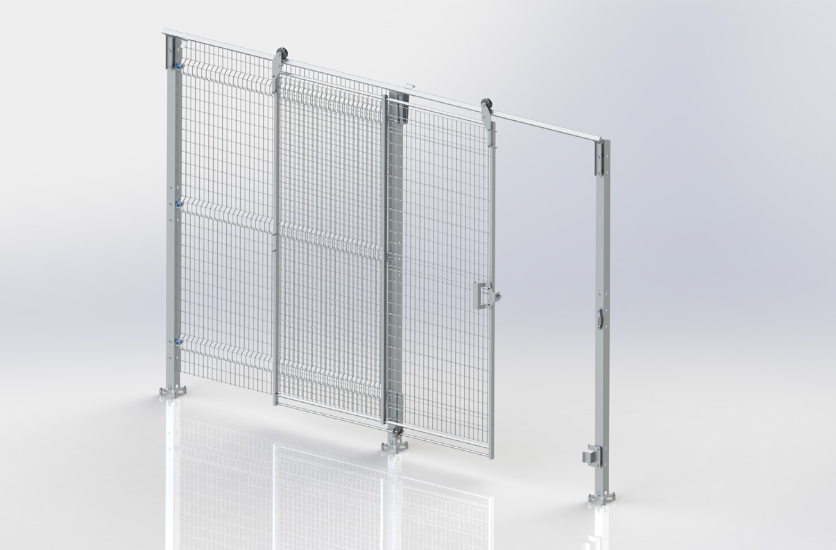BLUEGUARD SINGLE UPPER GUIDE SLIDING DOOR