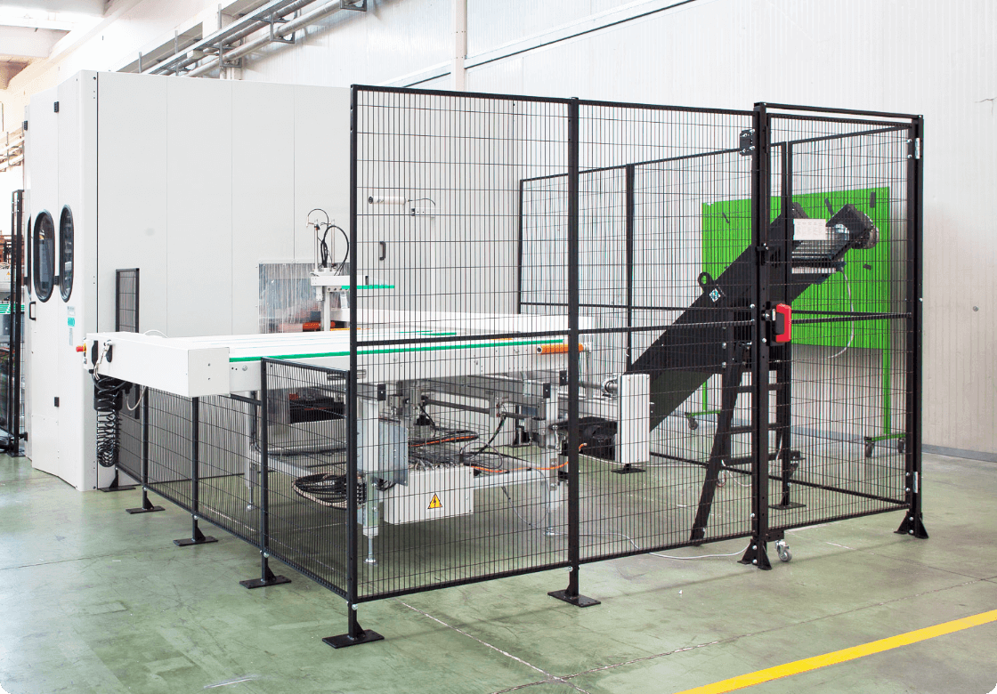 Satech GreenFast DP, the Modular Industrial Safety Fence solution without posts
